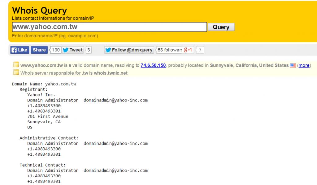DNS query