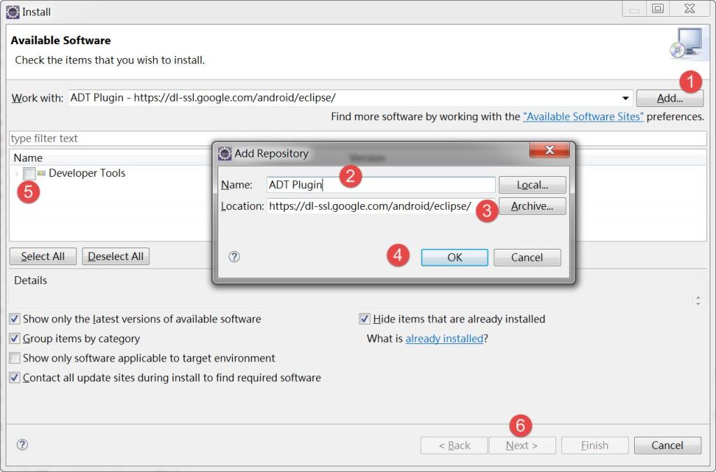 ADT Plugin install2