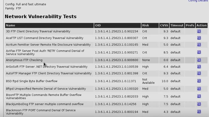 OpenVAS FTP Testing