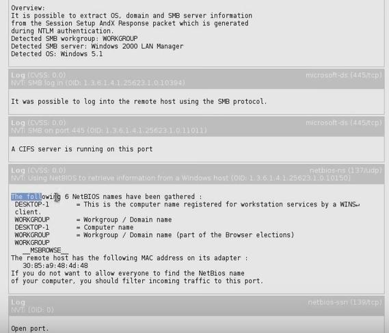 OpenVAS Scanning Report2