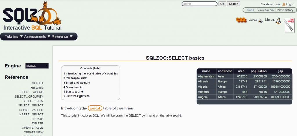 SQL online
