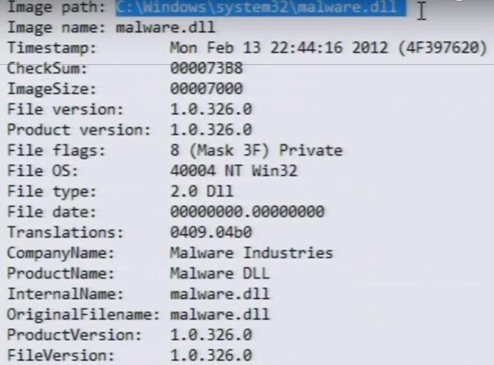 Malware Module info