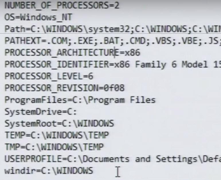 list of ENV2
